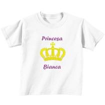 Camiseta Mãe E Filha 2 Un. Princesa! Linda!