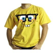Camiseta Adulto Ou Infantil Bob Esponja Oculos