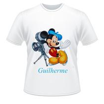 Camiseta Infantil Mickey Mouse Com Nome Da Criança