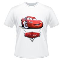 Camiseta Infantil Carros Com Nome Da Criança