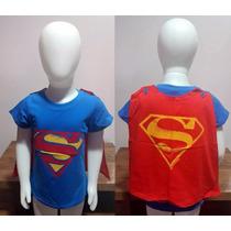 Importado China | Camiseta Com Capa Superman | 12-18m 18-24m