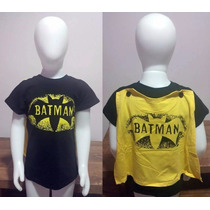 Importado China | Camiseta Com Capa Batman | 12-18m, 18-24m