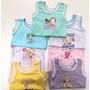 Camiseta Regata Bebê Lisa - Tam. Rn P M G 3 Unidades