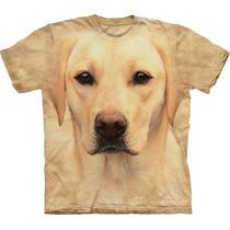Camiseta Cão Cachorro Labrador Amarelo Face - The Mountain