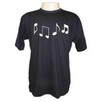 Camiseta Notas Musicais Divertida Panico Engraçada Sátiras