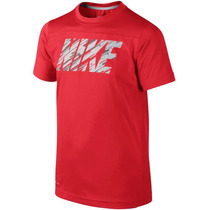 Camiseta Infantil Masculina Dri-fit Hyper Speed Red Nike