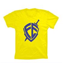 Camiseta Fé André Valadão Gospel Amarela Brasil Cod. 244