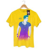 Camiseta Masculina Oficial Luan Santana Foto Degradê Bandup!