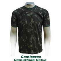 Camiseta Camuflada Malha Fria Pv Militar Pescaria Exército