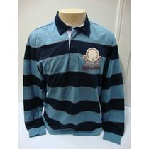 86-camiseta Beagle Masculina Polo Listrada Azul