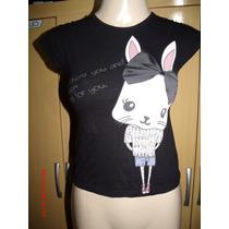 Linda Camiseta Zara Kids Tam: 07-08 Anos