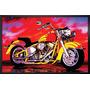 Quadro Grande 70x50cm Motos,lambreta Davidson Rocklive