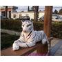 Grande Tigre Branco Pelucia Com 1 Metro E 65 Cm Total