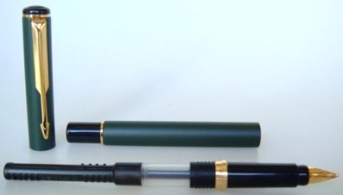 Caneta Tinteiro Parker Rialto - Epoxi Verde - Inglesa
