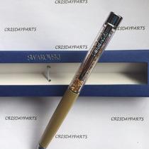 Caneta Swarovski Crystalline Lady Ballpoint Pen Dourada
