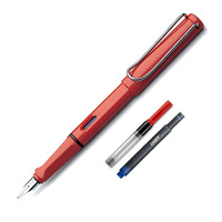 Caneta Tinteiro Lamy Safari Shiny Red + Conversor E Cartucho