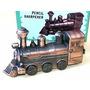Apontador De Lápis - Miniatura De Metal - Locomotiva Antiga