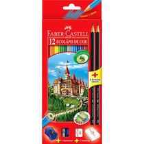 Caixa De Lápis De Faber Castell 12 Cores