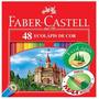 Lápis De Cor 48 Cores Ecolápis Faber Castell Cores Vivas
