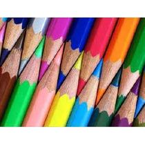 Lápis De Cor Exagonal 12 Cores (embalagem Atacado 6 Caixas)