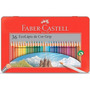 Lápis De Cor Faber Castell 36 Cores Grip Estojo Lata