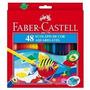 Lápis De Cor Faber Castell Aquarelável 48 Cores Com Pince