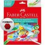 Lápis De Cor Faber Castell 24 Cores Aquarelável Colorir