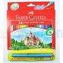 Lapis De Cor Faber Castell 24 Cores + Canetinhas