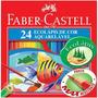 Lapis Faber Castell Original 24 Cores Aquarelavel+frete G.