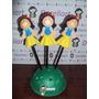 Ponteira Branca De Neve Em Eva 3d 8 Cm - Princesas Kit C/ 3