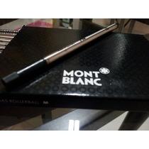 Kit Com 4 Refil Carga Caneta Rollerball Mont Blanc Preta M