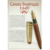Caneta Bico De Pena Ponta De Iridium Inspiração 1940