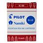 Lote 4 Caixas Cartucho Pilot Ic-50 Azul Canetas Tinteiro