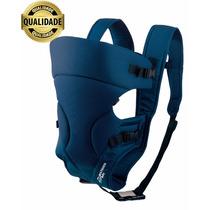 Canguru Bebê Baby Bag Marca Premium Azul 3 Posições Até 15kg