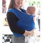 Sling Bebê Carona 100% Algodão Azul Royal