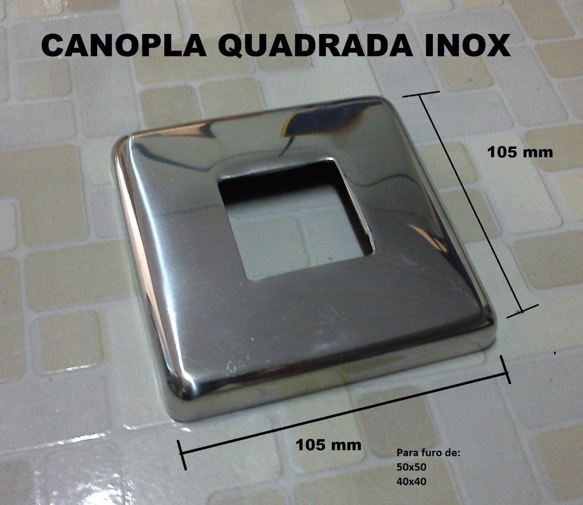 Canopla Em Aço Inox Polida Acessorios Para Corrimão R$ 10 50 no  #5E5D50 1200x1041 Acessorios Para Banheiro Em Inox