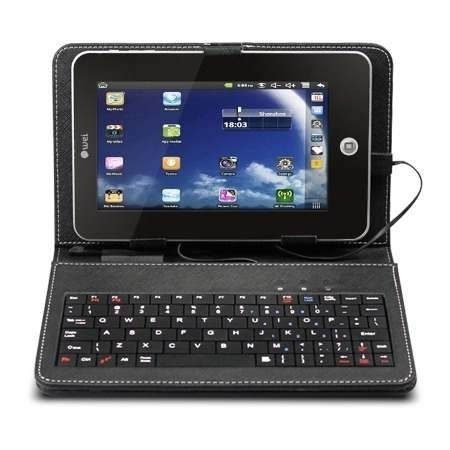 Capa Com Teclado Usb Para Tablet 7 Polegadas + Caneta