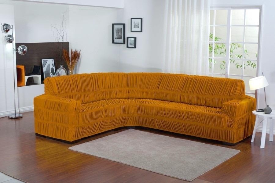 Capa de sofa bege de canto para sof at 6 lugares for Sofa 6 lugares de canto
