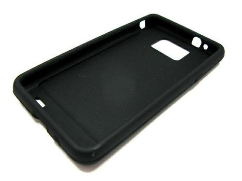 Capa Silicone Samsung Galaxy S2 I9100 C/ Película Protetora