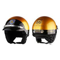 Capacete Aberto Kraft R66 Sheriff Custom Harley Drag Shadow