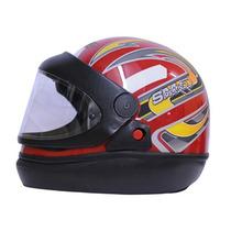 Capacete Moto Vermelho San Marino Tamanho 56