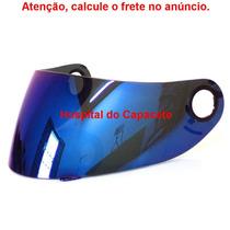 Viseira Bieffe Vector Espelhada Azul Honda Octanus E Stripe