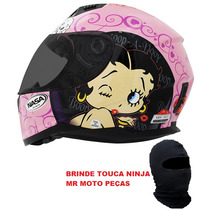 Capacete Nasa Sh881 Betty Boop Rosa Feminino Presente N° 56