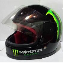 Capacete De Moto Infantil Monster Energy