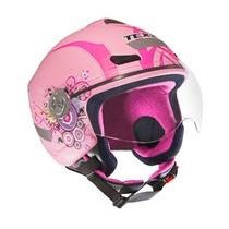 Capacete Feminino Aberto Texx Arsenal New Breeze - Rosa 56