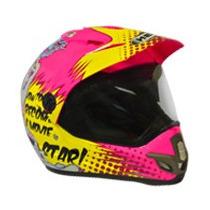 Capacete Motocross Feminino Helt Cross Vintage Número 56