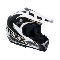Capacete Texx Speed Mud - Preto C/ Branco Moto Cross Tam: 62