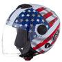 Capacete De Moto New Atomic Bandeira Estados Unidos Usa