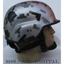 M88 Personalizado - Acu Digital Metálico - Capacete Tático
