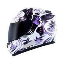 Capacete Mt Blade New Butterfly- White-pink Nº58